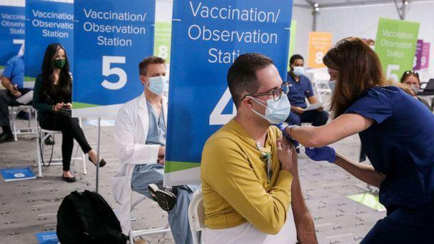 PHOTO: AdventHealth Tampa began vaccinating team members at highest risk of exposure to COVID-19, Tampa Bay, Fla., Dec. 16, 2020. (Dirk Shadd/Tampa Bay Times via Zuma Press)