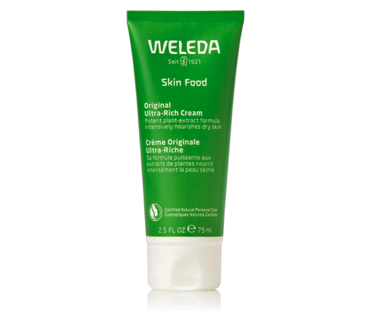 Jan Fonda uses the $18 Weleda Skin Food Original Ultra-Rich Body Cream as part of her nighttime routine. Image via Amazon.