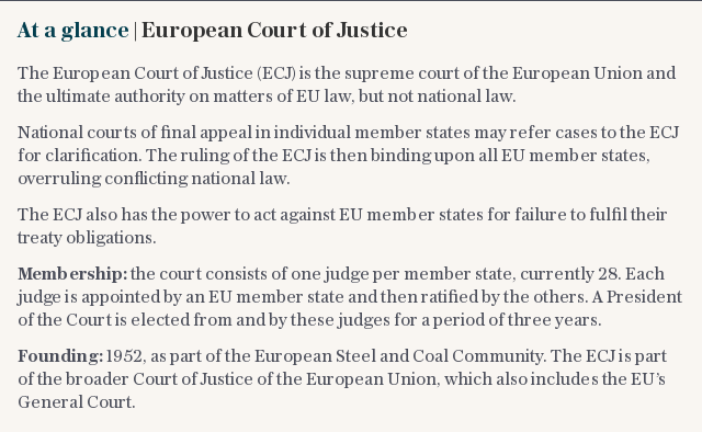 At a glance | European Court of Justice