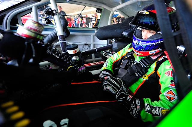 CONCORD, NC - MAY 26: Danica Patrick, driver of the #10 GoDaddy.com Chevrolet, sits in her car during practice for the NASCAR Sprint Cup Series Coca-Cola 600 at Charlotte Motor Speedway on May 26, 2012 in Concord, North Carolina. (Photo by Jamey Price/Getty Images for NASCAR)