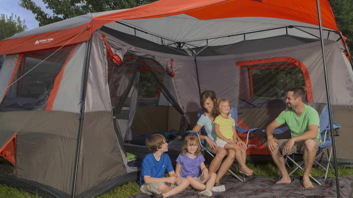 This massive tent holds up to 12 people.