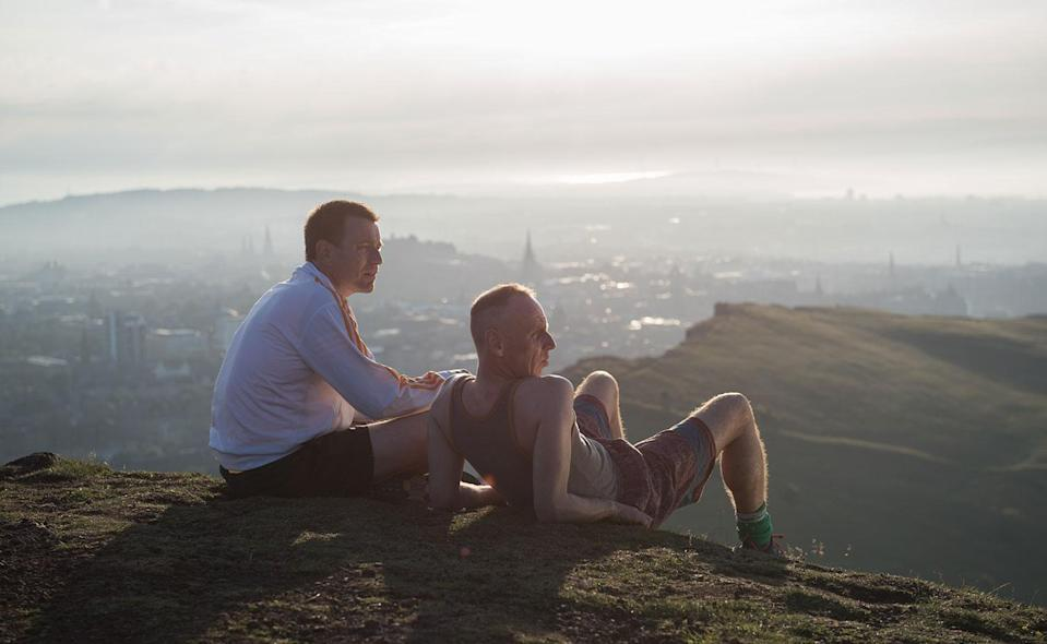 Renton and Spud take in the city view (Sony Pictures)