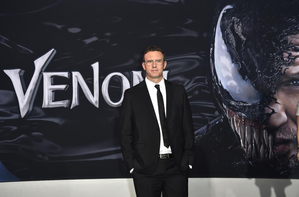 "WESTWOOD, CA - OCTOBER 01:Ruben Fleischer attends the Premiere Of Columbia Pictures' ""Venom"" at Regency Village Theatre on October 1, 2018 in Westwood, California.  (Photo by Frazer Harrison/Getty Images)"