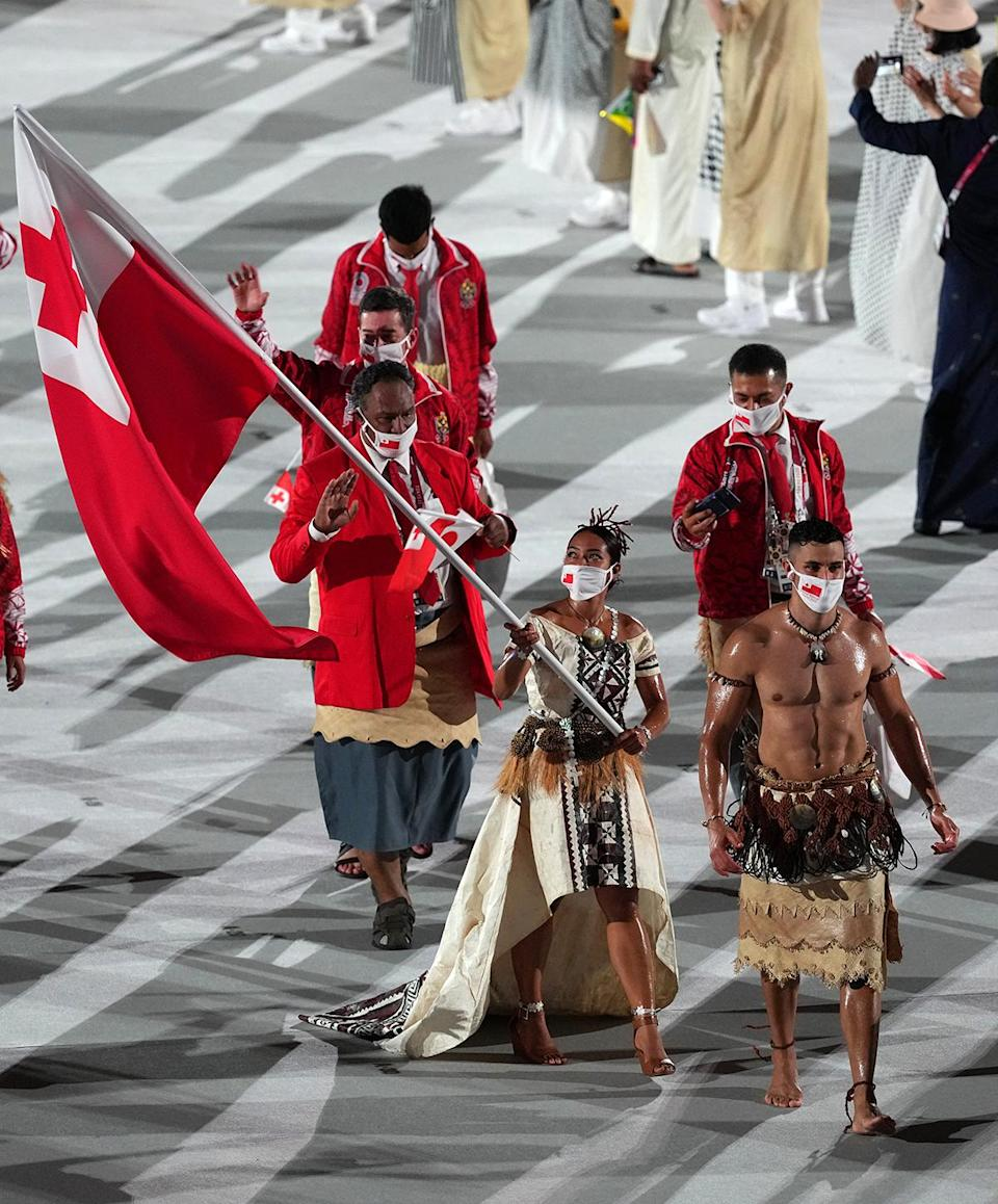 """<p>Tonga had to be included in this roundup ... for <a href=""""https://people.com/sports/shirtless-tongan-olympian-pita-taufatofua-will-compete-tokyo-olympics/"""" rel=""""nofollow noopener"""" target=""""_blank"""" data-ylk=""""slk:obvious reasons"""" class=""""link rapid-noclick-resp"""">obvious reasons</a>! </p>"""