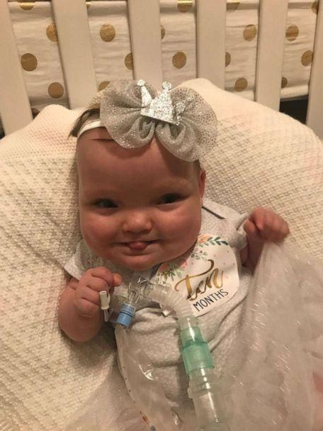 PHOTO: Joy Day, now 10 months old, spent 268 days in a Missouri hospital NICU. The children is now home iwth her parnets, Amber and JP Day, of Columbia, Missouri, and her three siblings. (Amber Day)