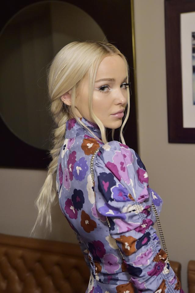 """<p>Dove Cameron wore this <a href=""""https://www.popsugar.com/beauty/dove-cameron-braid-2019-46802869"""" class=""""ga-track"""" data-ga-category=""""Related"""" data-ga-label=""""https://www.popsugar.com/beauty/dove-cameron-braid-2019-46802869"""" data-ga-action=""""In-Line Links"""">beautiful braid</a> to a Kate Spade event, which featured three smaller braids within the larger one. This is an easy and pretty style that's sure to impress.</p>"""