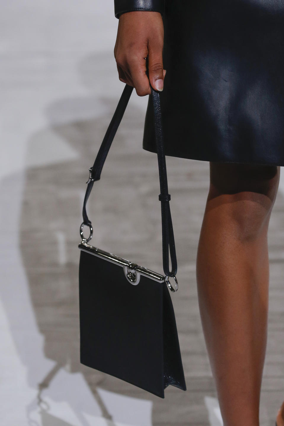 PARIS, FRANCE - OCTOBER 03: A model walks the runway during the Hermes Ready to Wear Spring/Summer 2021 fashion show as part of Paris Fashion Week on October 03, 2020 in Paris, France. (Photo by Victor VIRGILE/Gamma-Rapho via Getty Images)