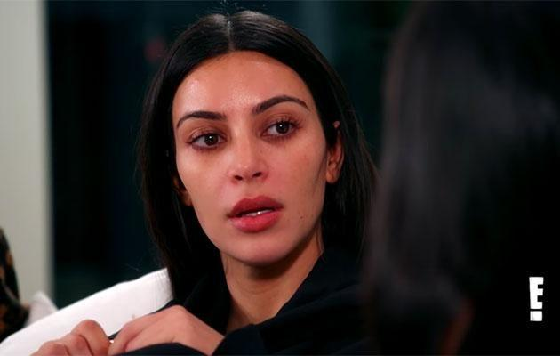 Kim has tearfully recounted her terrifying ordeal. Source: E!