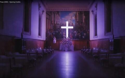 The scene was shot in a former monastery on an island in Venice's lagoon