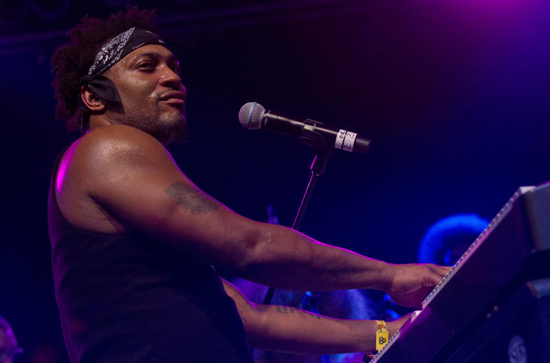 DeAngelo performs during the Bonnaroo Music and Arts Festival in Manchester, Tenn., Sunday, June 10, 2012. (AP Photo/Dave Martin)
