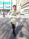 """<p>In 2012, Parsons students Matthew Wallace, Elizabeth Bastian, and Deirdre Gaine created a dress made of <a href=""""http://metrocarddress.tumblr.com/"""" rel=""""nofollow noopener"""" target=""""_blank"""" data-ylk=""""slk:discarded New York City MetroCards"""" class=""""link rapid-noclick-resp"""">discarded New York City MetroCards</a> in order to make a statement about sustainability and recycling. Many of the cards used were found on the ground at the Union Square subway station. </p>"""