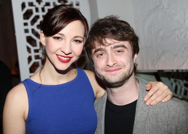 "Erin Darke and boyfriend Daniel Radcliffe (Darke is in the play) attends ""The Spoils"" Opening Night Party, 2015. (Bruce Glikas/FilmMagic)"