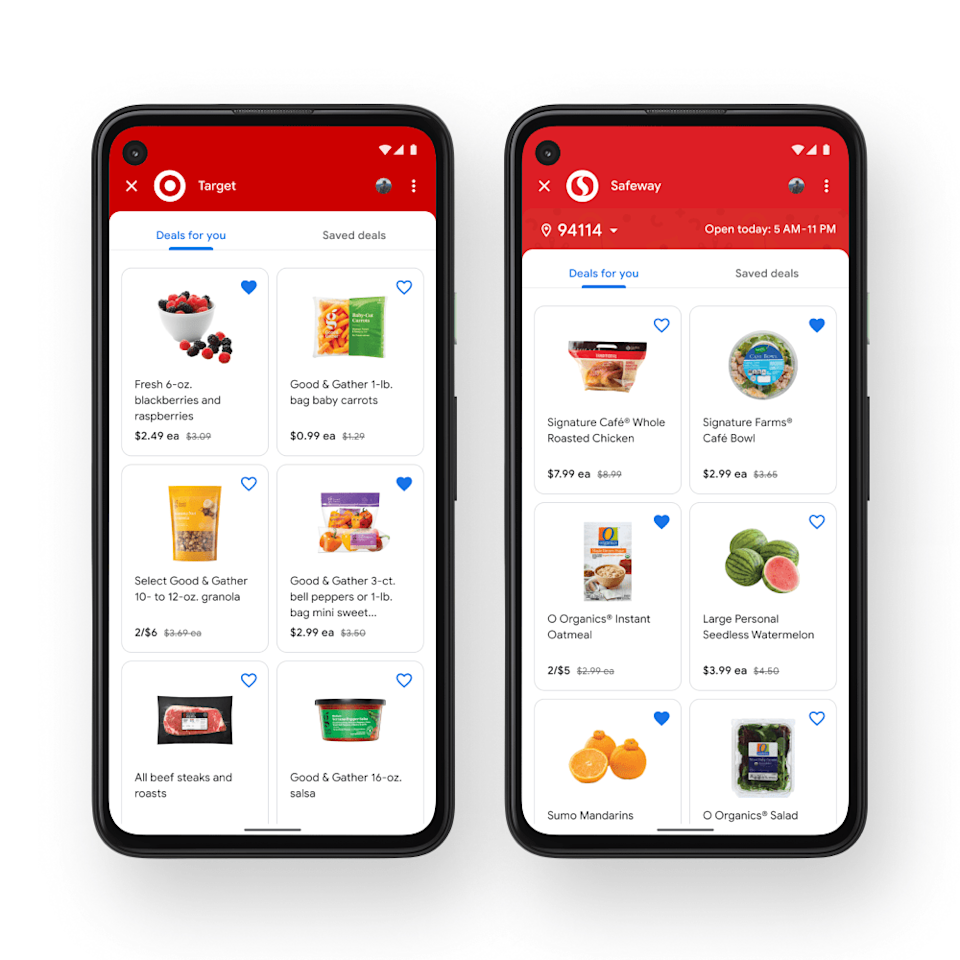 Google Pay groceries