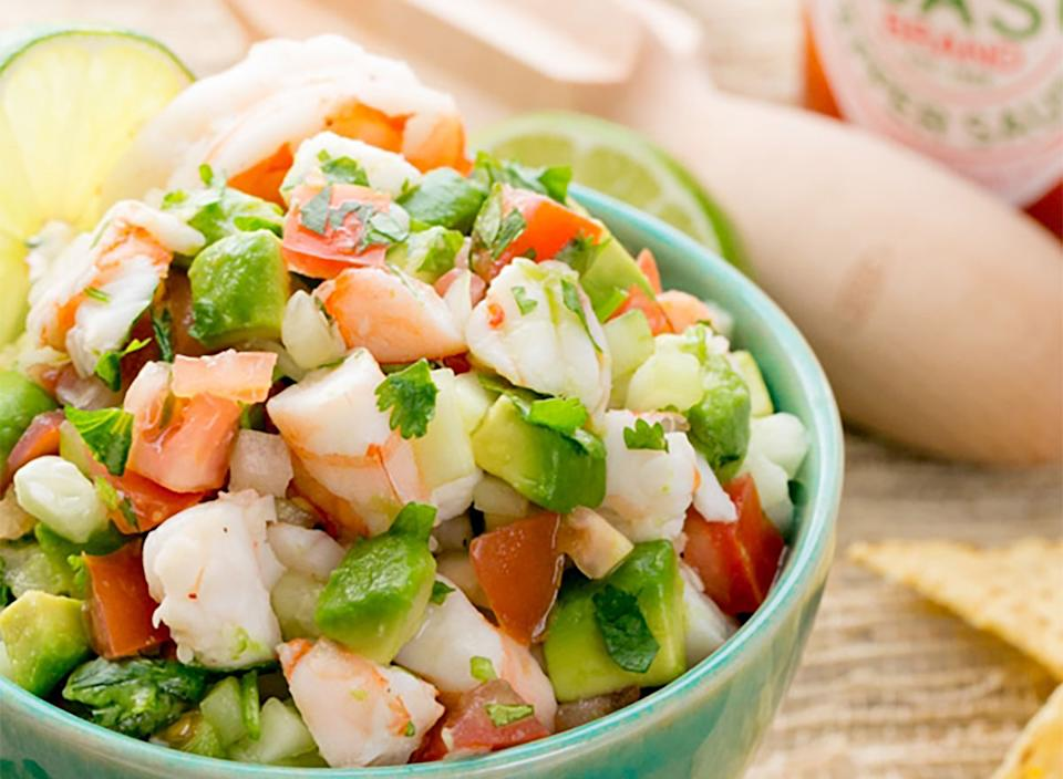 shrimp avocado salsa