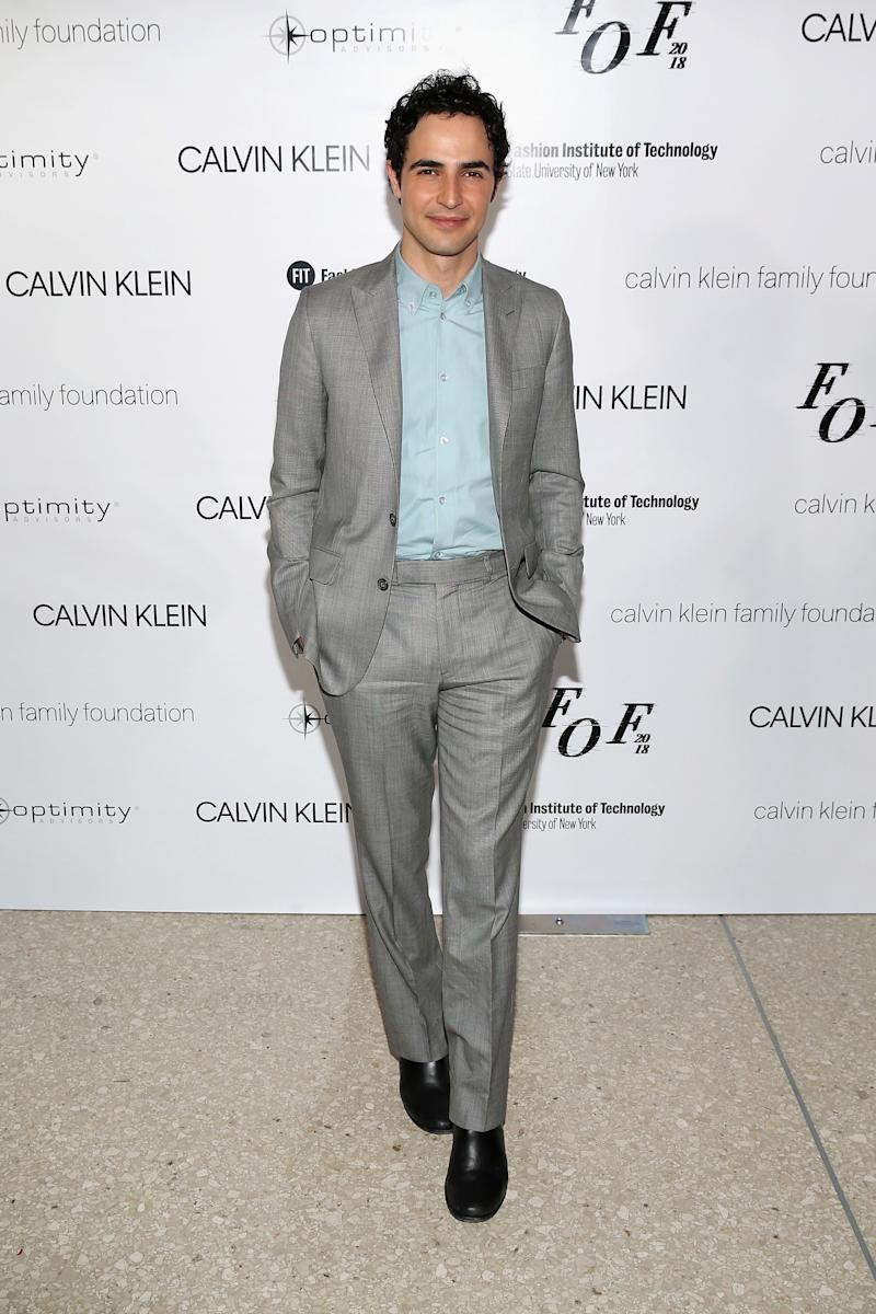 Zac Posen attends the 2018 Future Of Fashion Runway Show at the Fashion Institute Of Technology.