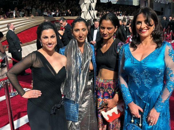 PHOTO: The 'Period. End of Sentence' team poses on the red carpet at the 91st annual Academy Awards. (Netflix)
