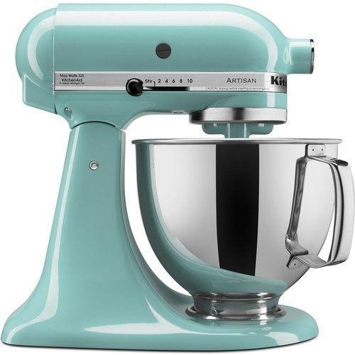 "<h3>KitchenAid Stand Mixer</h3><p>Transform your kitchen into an Amalfi Coast escape with this aqua-blue coated mixer on sale for over 20% off its usual premium price.</p><br><br><strong>KitchenAid</strong> Artisan Series 5-Quart Tilt-Head Stand Mixer, Aqua Sky, $299.95, available at <a href=""https://www.walmart.com/ip/KitchenAid-KSM150PSAQ-Artisan-Series-5-Quart-Tilt-Head-Stand-Mixer-Aqua-Sky/41489762"" rel=""nofollow noopener"" target=""_blank"" data-ylk=""slk:Walmart"" class=""link rapid-noclick-resp"">Walmart</a>"