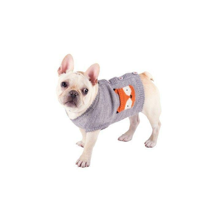 """<p><strong>The Worthy Dog</strong></p><p>target.com</p><p><strong>$40.00</strong></p><p><a href=""""https://www.target.com/p/the-worthy-dog-fox-pullover-cardigan-sweater-gray-l/-/A-81652968"""" rel=""""nofollow noopener"""" target=""""_blank"""" data-ylk=""""slk:Shop Now"""" class=""""link rapid-noclick-resp"""">Shop Now</a></p><p>Give your dog a preppy look with this cardigan-style sweater. The fox embellishments are super cute, too. </p>"""