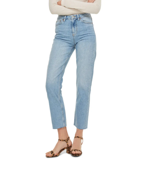 High-waisted straight leg jeans? Super on trend. (Photo: Nordstrom)