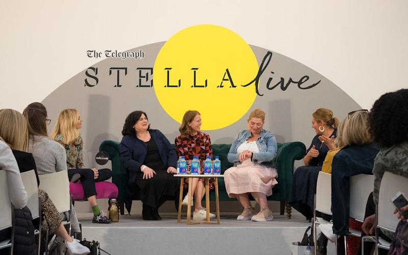 Fearne Cotton, Diana Henry, Bryony Gordon and the Midults on the main stage at Stella Live 2019 - Daniel Hambury