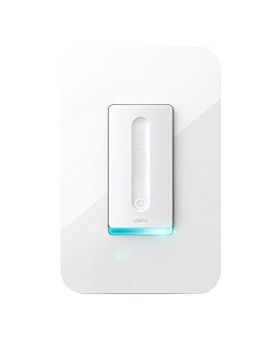 "<p><strong>WeMo</strong></p><p>amazon.com</p><p><strong>$89.99</strong></p><p><a href=""https://www.amazon.com/dp/B071RFYQFM?tag=syn-yahoo-20&ascsubtag=%5Bartid%7C10055.g.35090968%5Bsrc%7Cyahoo-us"" rel=""nofollow noopener"" target=""_blank"" data-ylk=""slk:Shop Now"" class=""link rapid-noclick-resp"">Shop Now</a></p><p>Not only does the WeMo Dimmer look cool with its glowing LED status light, but <strong>one of the best features of the switch is that it calibrates to work with any light bulb for maximum dimming with minimum flickering.</strong> Online reviewers love that it also has a night mode button that keeps you from blinding yourself with full-on bright lights if it's the middle of the night. They did comment that it is virtually impossible to remember the seven different statuses, though. </p><p>Since this dimmer switch connects to your WiFi network, you don't need a hub, but you will need a neutral wire. The WeMo app supports numerous smart products and offers many features, including light scheduling and various lighting modes. You'll also be able to review power-consumption data and control multiple WeMo devices with a single swipe. Although it's not compatible with a ton of smart home systems, it does work with Alexa, Apple HomeKit, and Google Home, for hands-free voice control.</p>"