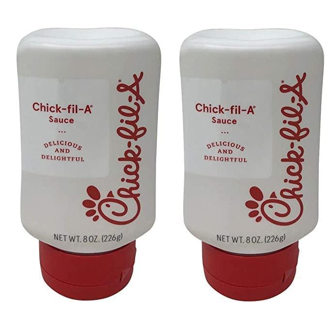 <p>If you love Chick-fil-A, the <span>Chick-Fil-A Sauce Squeeze Bottle 2 Pack</span> ($17) is a must have. Create the ultimate sandwiches, salads, and more with these yummy condiments. </p>