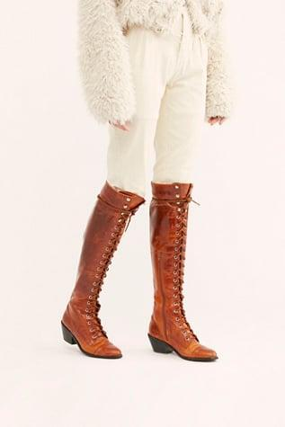 <p><span>Jeffrey Campbell Joe Lace-Up Over-the-Knee Boots</span> ($298)</p>