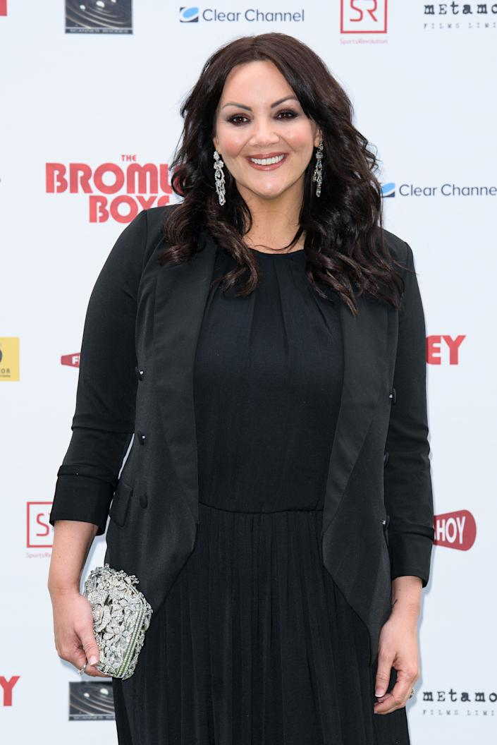 LONDON, ENGLAND - MAY 24: Martine McCutcheon attends 'The Bromley Boys' UK premiere held in The Great Room at Wembley Stadium on May 24, 2018 in London, England. (Photo by Joe Maher/Getty Images)