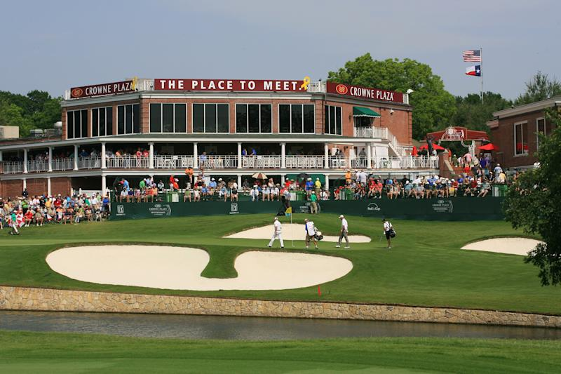 A 2011 photo of Colonial's clubhouse. There won't be fans there this week. (Hunter Martin/Getty Images)