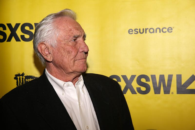 "AUSTIN, TX - MARCH 11: Actor George Lazenby attends the premiere of ""Becoming Bond"" during 2017 SXSW Conference and Festivals at Stateside Theater on March 11, 2017 in Austin, Texas. (Photo by Steve Rogers Photography/Getty Images for SXSW)"