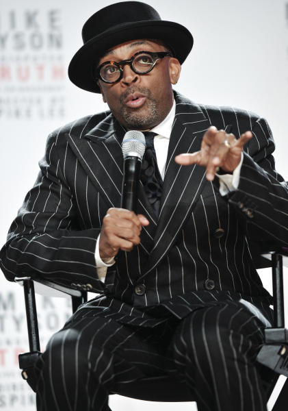 """Director Spike Lee talks about his Broadway directorial debut """"Mike Tyson: Undisputed Truth"""", a one man show starring Mike Tyson, on Monday June 18, 2012 in New York. (Photo by Evan Agostini/Invision)"""