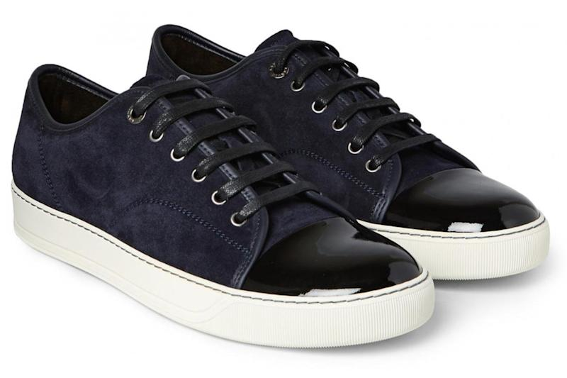 Suede and leather sneakers, £290, Lanvin