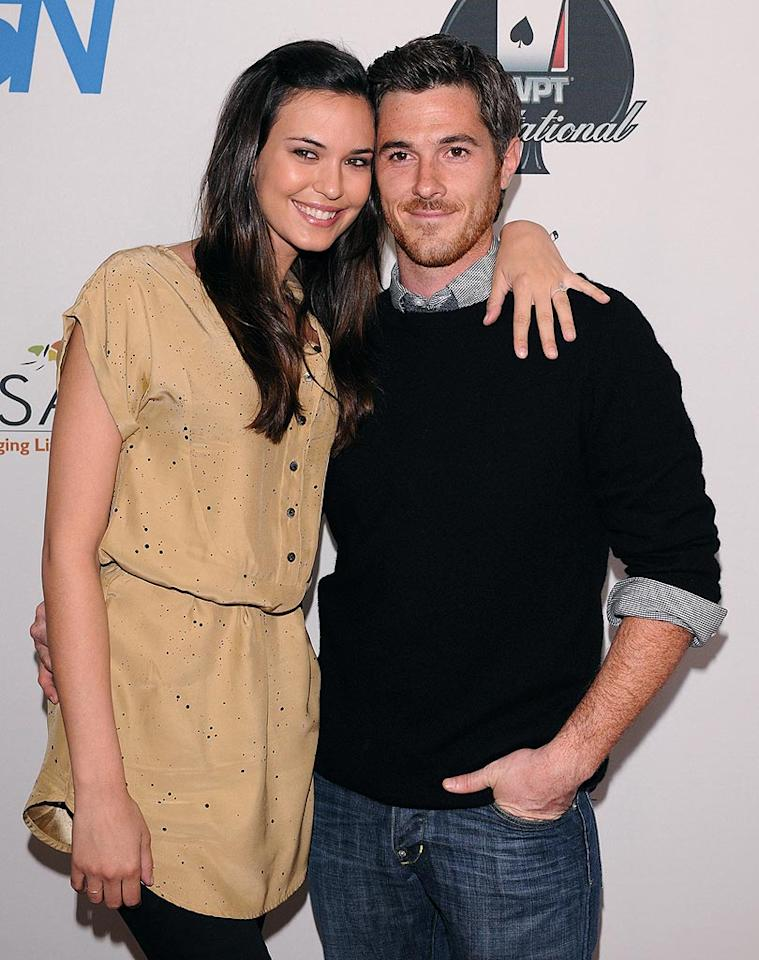 "Also down on one knee was ""Brothers & Sisters"" star Dave Annable, who proposed to his girlfriend, actress Odette Yustman. Spotted together at the World Poker Tour Invitational, Yustman told <i>People</i> that after Dave proposed, ""We were doing cartwheels and screaming, 'We're getting married! WE'RE GETTING MARRIED!' "" Cute. Jean Baptiste Lacroix/<a href=""http://www.wireimage.com"" target=""new"">WireImage.com</a> - February 20, 2010"
