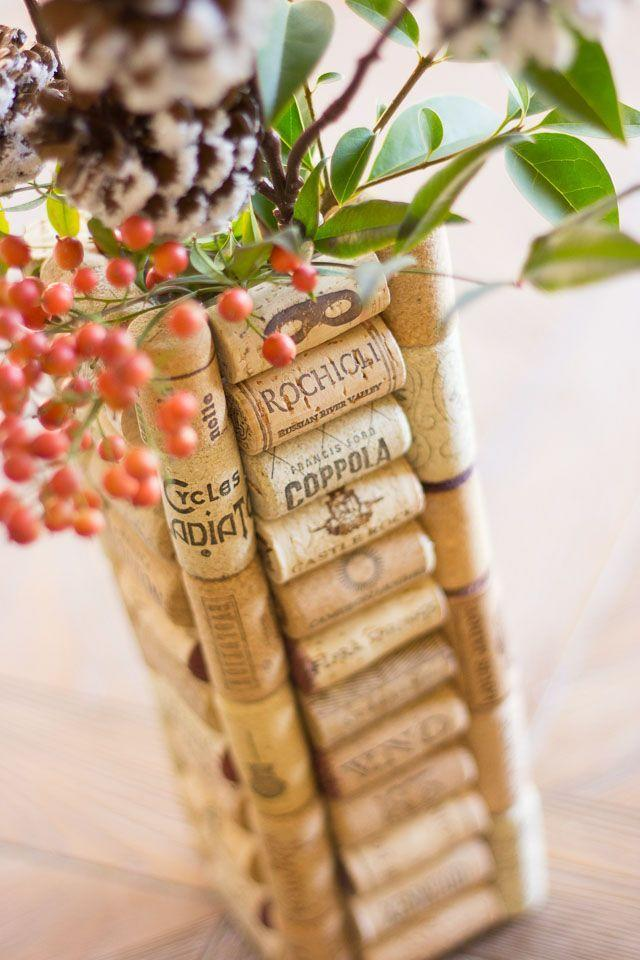 """<p>You probably have a ton of corks lying around and don't know what to do with them. Take an old vase or even up-cycle an old jar, and cover it in wine corks! It's super-easy and so cute!</p><p><strong>Get the tutorial at</strong> <strong><a href=""""https://designimprovised.com/2014/11/thrifty-diy-wine-cork-vases.html"""" rel=""""nofollow noopener"""" target=""""_blank"""" data-ylk=""""slk:Design Improvised"""" class=""""link rapid-noclick-resp"""">Design Improvised</a>.</strong></p><p><a class=""""link rapid-noclick-resp"""" href=""""https://www.amazon.com/Diamond-Star-Decorative-Wedding-Centerpieces/dp/B07VSFXMC7/ref=sr_1_1_sspa?dchild=1&keywords=square%2Bvase&qid=1600886713&sr=8-1-spons&spLa=ZW5jcnlwdGVkUXVhbGlmaWVyPUEzVEMyOVpLNUdYQzY2JmVuY3J5cHRlZElkPUEwOTE5NDYyMzZOTEo1NjVDQ1A0SSZlbmNyeXB0ZWRBZElkPUEwNzQzOTE2Mzg4RVRPUjBMTDVQUCZ3aWRnZXROYW1lPXNwX2F0ZiZhY3Rpb249Y2xpY2tSZWRpcmVjdCZkb05vdExvZ0NsaWNrPXRydWU&th=1&tag=syn-yahoo-20&ascsubtag=%5Bartid%7C10050.g.23489557%5Bsrc%7Cyahoo-us"""" rel=""""nofollow noopener"""" target=""""_blank"""" data-ylk=""""slk:SHOP SQUARE VASES"""">SHOP SQUARE VASES</a></p>"""