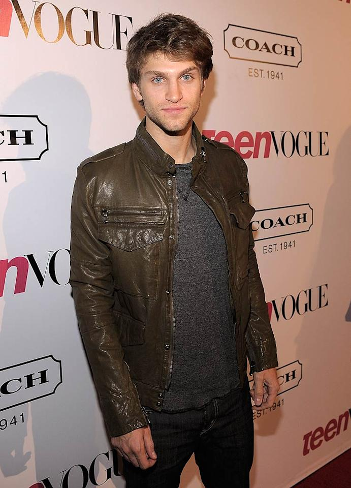 """<b>Keegan Allen:</b> The motorcycle style jacket the """"Pretty Little Liars"""" actor sported at a Hollywood bash gave him a fashionable edge. (09/23/2011)"""