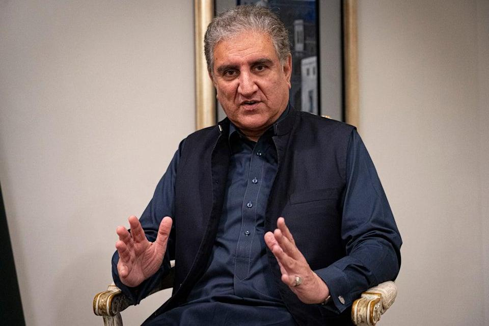 Pakistan's foreign minister, Shah Mahmood Qureshi  (Bel Trew)