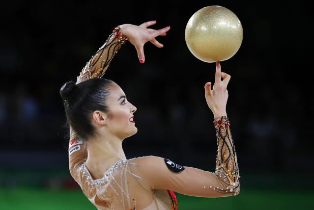 Rhythmic Gymnastics - Gold Coast 2018 Commonwealth Games - Individual Ball Final - Coomera Indoor Sports Centre - Gold Coast, Australia - April 13, 2018. Laura Halford of Wales. REUTERS/David Gray