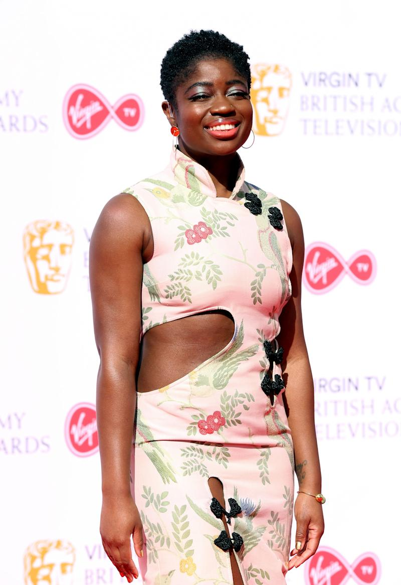 Clara Amfo attending the Virgin TV British Academy Television Awards 2018 held at the Royal Festival Hall, Southbank Centre, London.