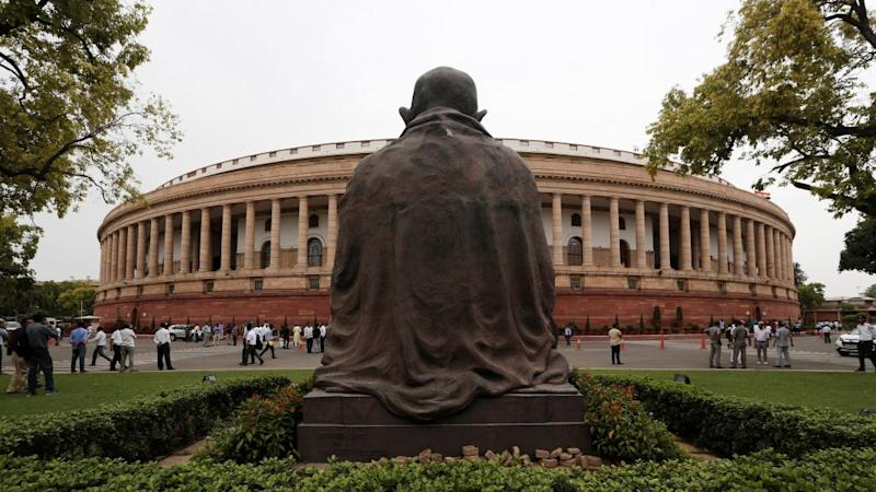 The Indian parliament building in New Delhi, India