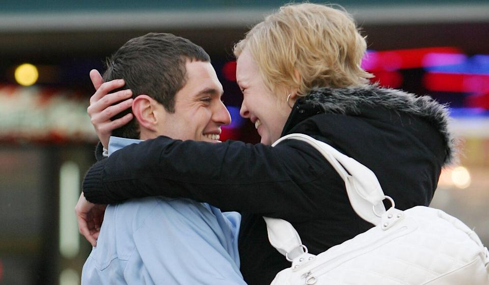 Mathew Horne and Joanna Page as the titular couple in sitcom 'Gavin & Stacey'. (Credit: BBC)