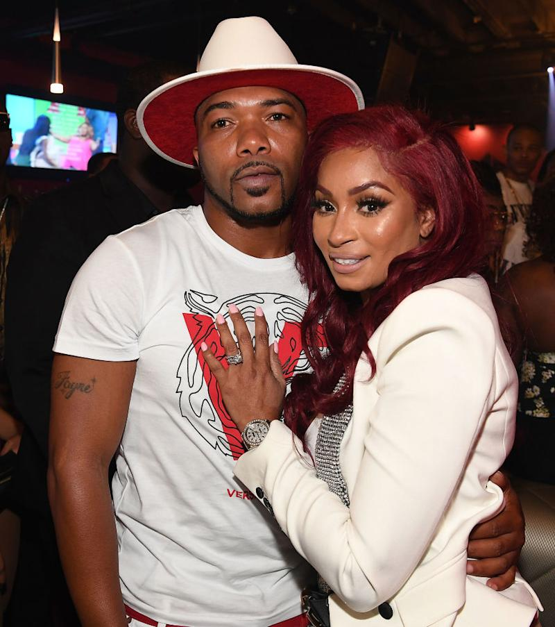 "Maurice ""Mo"" Fayne and Karlie Redd celebrate in Atlanta in 2018. (Photo by Paras Griffin/Getty Images)"