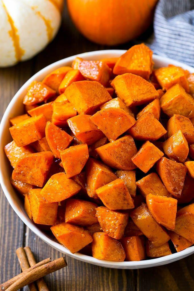"<p>Coat your sweet potatoes in sweet maple cinnamon butter. It's a side dish that's a guaranteed crowd-pleaser.</p><p><strong>Get the recipe at <a href=""https://www.dinneratthezoo.com/roasted-sweet-potatoes/"" rel=""nofollow noopener"" target=""_blank"" data-ylk=""slk:Dinner at the Zoo"" class=""link rapid-noclick-resp"">Dinner at the Zoo</a>.</strong></p><p><strong><a class=""link rapid-noclick-resp"" href=""https://go.redirectingat.com?id=74968X1596630&url=https%3A%2F%2Fwww.walmart.com%2Fbrowse%2Fhome%2Ftools-gadgets%2Fthe-pioneer-woman%2F4044_623679_133020%2FYnJhbmQ6VGhlIFBpb25lZXIgV29tYW4ie&sref=https%3A%2F%2Fwww.thepioneerwoman.com%2Ffood-cooking%2Fmeals-menus%2Fg33251890%2Fbest-thanksgiving-sides%2F"" rel=""nofollow noopener"" target=""_blank"" data-ylk=""slk:SHOP KITCHEN TOOLS"">SHOP KITCHEN TOOLS</a><br></strong></p>"