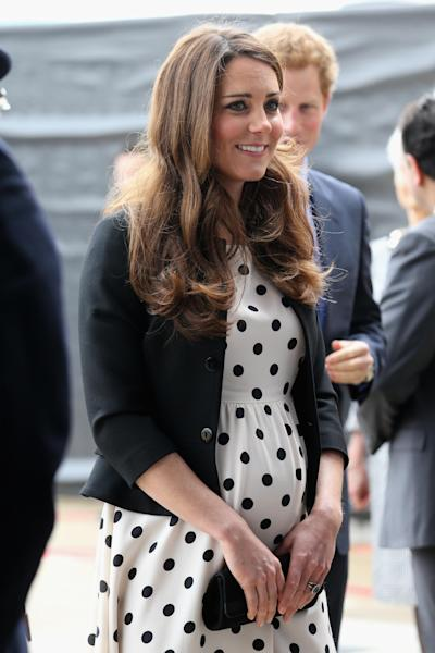 "FILE - This is a Friday, April 26, 2013 file photo of Britain's Kate the Duchess of Cambridge arrives with her husband Prince William, not pictured and his brother Prince Harry, rear right, to attend the inauguration of ""Warner Bros. Studios Leavesden"" near Watford, approximately 18 miles north west of central London. s it a boy? A girl? As the due date for Prince William and the former Kate Middleton's first child nears, observers are also asking: Where will the royal baby spend its first few months? The world won't know the gender of the baby until it's born in July _ and the answer to the second question isn't as straightforward as one might think. (AP Photo/Chris Jackson, Pool, FILE)"