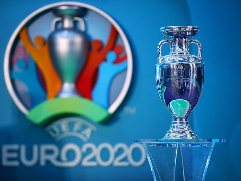 The European Championship trophy: Getty