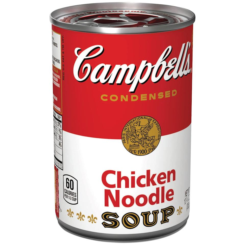 "<p>""I will always love <span>Campbell's Chicken Noodle Soup</span>; my mom always gave it to my brother and I when we were sick. Yes, she makes a way better soup from scratch, but it's nostalgia and comfort in a can!"" - Dominique Astorino, assistant editor, Fitness </p>"
