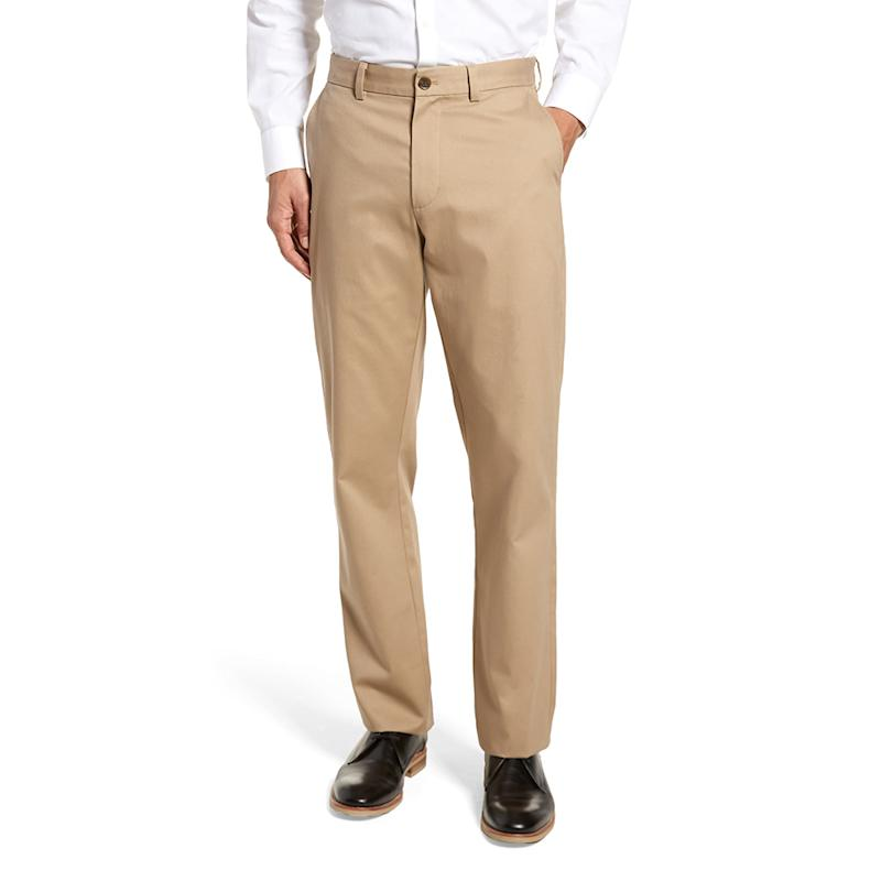 Nordstrom Men's Shop Wrinkle Free Straight Leg Chinos. (Photo: Nordstrom)