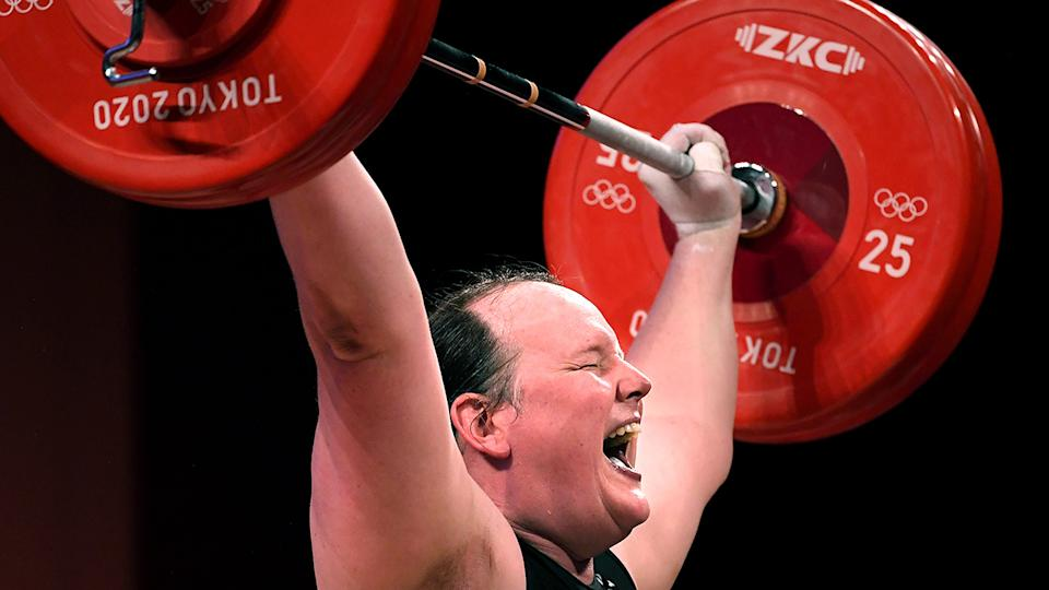Laurel Hubbard was recognised by the IOC as the first transgender athlete to compete at an Olympic Games. (Wally Skalij /Los Angeles Times via Getty Images)