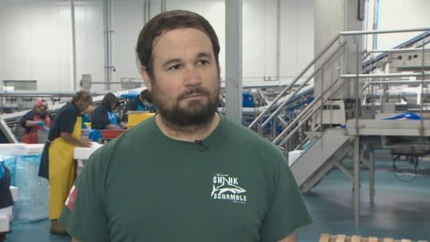 Scotia Harvest president and part owner Alain d'Entremont says he's been working in fish plants since he was 11 and this is his time to build a better one. (Paul Poirier/CBC - image credit)