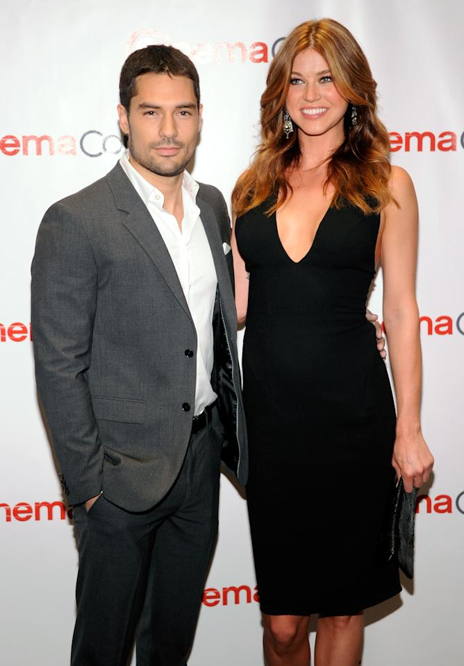 "LAS VEGAS, NV - APRIL 23:  Actor D.J. Cotrona (L) and actress Adrianne Palicki arrive at a Paramount Pictures and DreamWorks Animation event at Caesars Palace during the opening night of CinemaCon, the official convention of the National Association of Theatre Owners, April 23, 2012 in Las Vegas, Nevada. Theey are promoting their upcoming movie, ""G.I. Joe: Retaliation.""  (Photo by Ethan Miller/Getty Images)"