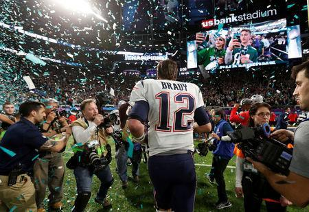 NFL Football - Philadelphia Eagles v New England Patriots - Super Bowl LII - U.S. Bank Stadium, Minneapolis, Minnesota, U.S. - February 4, 2018 New England Patriots' Tom Brady walks off dejected after the game REUTERS/Kevin Lamarque